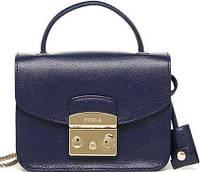Женская изящная кожаная сумка Фурла Метрополис Mini FR-8169BL синий