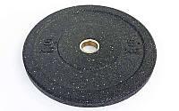 Бамперные диски для кроссфита Bumper Plates из структурной резины d-51мм RAGGY ТА-5126- 5 5кг