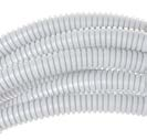Труба ПВХ гибкая гофр. д.40мм, лёгкая с протяжкой, цвет серый ДКС 91940