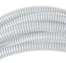 Труба ПВХ гибкая гофр. д.50мм, лёгкая с протяжкой, цвет серый ДКС 91950