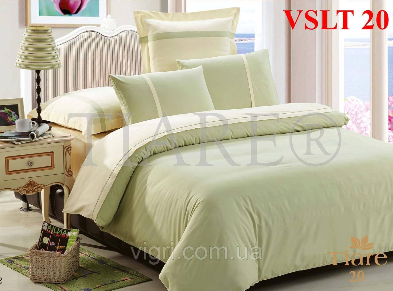 Постельное белье однотонное, евро комплект, сатин люкс Tiare, Вилюта. VSLT 20