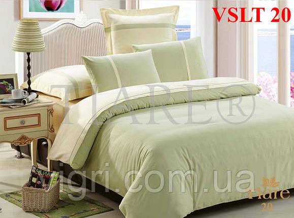 Постельное белье однотонное, евро комплект, сатин люкс Tiare, Вилюта. VSLT 20, фото 2