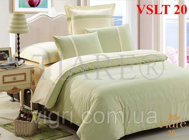 Постельное белье однотонное, сатин люкс Tiare, Вилюта. VSLT 20