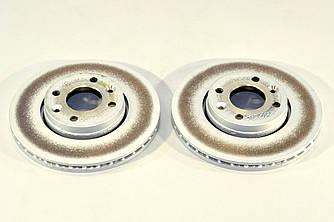 Гальмівний диск передній 258mm. (к-т 2шт) на Renault Kangoo II 2008-> — Renault (Оригінал) - 402061200R
