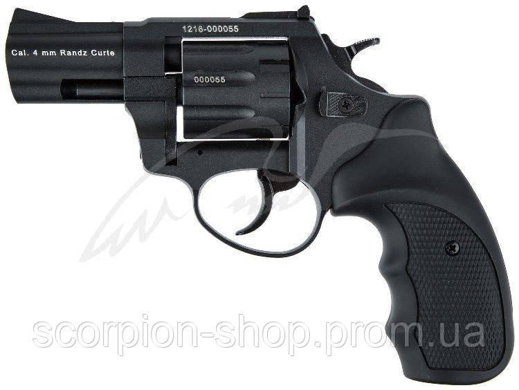 "Револьвер флобера STALKER S 4 мм 2,5"" чёрн. рук.(силумин.барабан)"