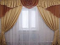 Комплект ламбрекен (№50) с шторами на карниз 2,5-3м. 050лш078