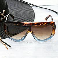 Женские брендовые очки Celine Селин маска коричневые