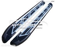 Подножки боковые защитные для Вольво XC90 2002 - 2015 в стиле Ауди Кю7