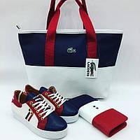 Набор: сумочка, обувь, кошелек, цвет: 3-х цветный.бренд: LaCostе, Tommy Hilfiger