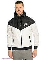 Мужская спортивная ветровка Nike, черно-белая