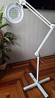Лампа лупа светодиодная на штативе с подсветкой 5 диоптрий