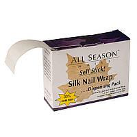Шелк для ремонта ногтей All Season  в рулоне на клеевой основе