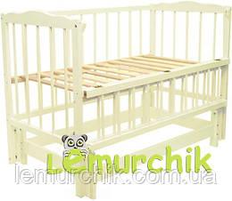 """Кровать детская натуральное дерево """"Слоновая кость"""""""