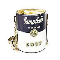 Сумка Campbell's Soup Andy Warhol черно-серая