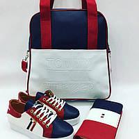 Стильный набор: сумочка, обувь, кошелек, цвет: 3-х цветный. Tommy Hilfiger