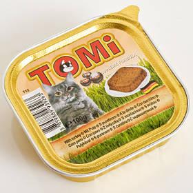 TOMi turkey ИНДЕЙКА консервы для кошек, паштет, 0,1кг