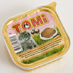 TOMi shrimps КРЕВЕТКИ консервы для кошек, паштет, 0,1кг