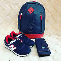 Набор: рюкзак, обувь, кошелек, LaCostе цвет:сапфировый