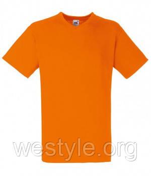 Футболка хлопковая -  61-066-44 оранжевая