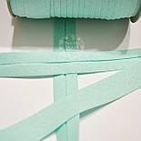 Косая бейка из хлопка мятного цвета 18 мм., фото 2