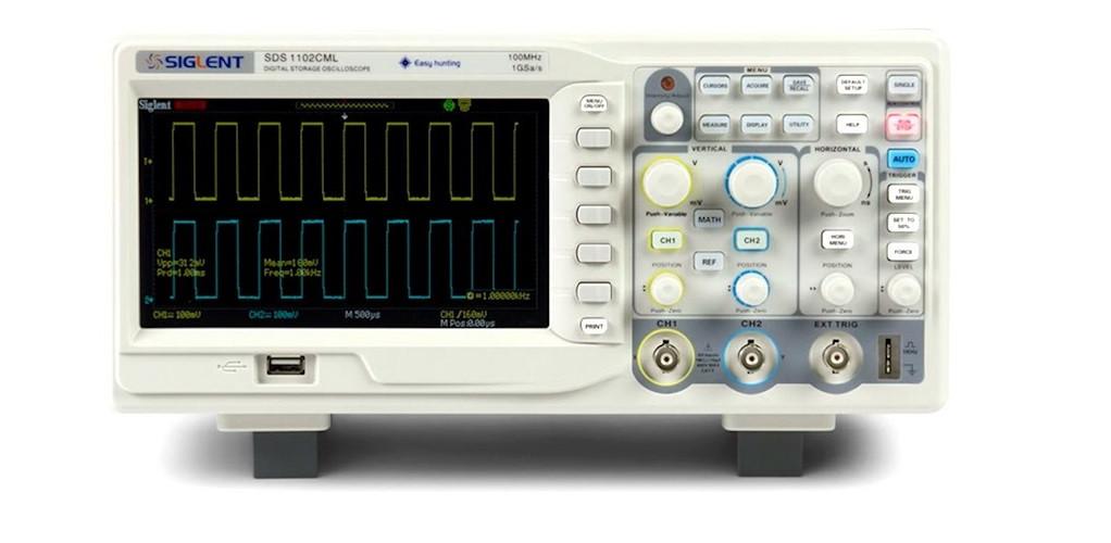 """Цифровой осциллограф Siglent SDS 1022DL, настольный , двухканальный, 25 МГц, 500 Мвыб/с, 7,0"""" TFT дис"""