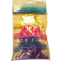 Зажим для волос DeniC пластик длинный цветной