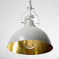 Светильник подвесной купол Loft Steampunk [ Brass ART ] white black