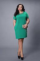 Стильное женское платье бирюзового цвета, фото 1