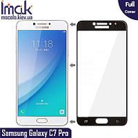 Защитное стекло Imak Samsung Galaxy C7 Pro Full cover (Black)