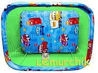 Манеж детский с крупной сеткой Kinderbox Тачки