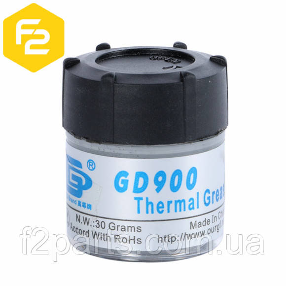 Термопаста GD900 [30 грамм банка, 4.8 Вт/м·К] для систем охлаждения, сервисный вариант.