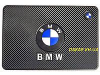 Антискользящий силиконовый коврик на торпедо с логотипом BMW v2 БМВ