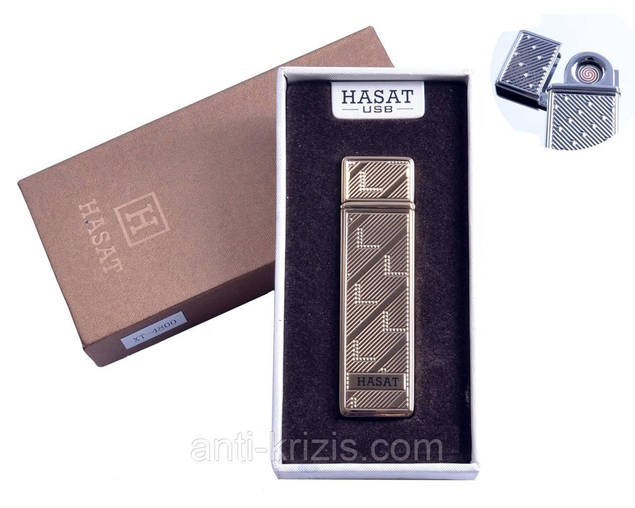 USB зажигалка в подарочной упаковке Hasat (Двухсторонняя спираль накаливания) №4800-5