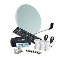Комплект на 3 спутника (Тюнер FULL HD, 2 USB, IPTV, YouTube)