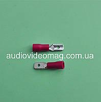 Клемма ножевая 4.8 мм папа, с частичной изоляцией, упаковка 50 шт.