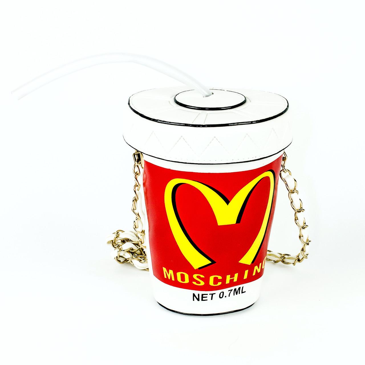 3D сумочка стакан с трубочкой Moschino
