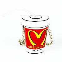 3D сумочка стакан с трубочкой Moschino, фото 1