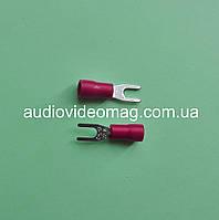 Клемма вилочная под контакт 3 мм, с изоляцией, упаковка 50 шт.