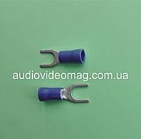 Клемма вилочная под контакт 5 мм, с изоляцией, упаковка 50 шт.