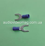 Клемма вилочная под контакт 6 мм, с изоляцией, упаковка 50 шт.