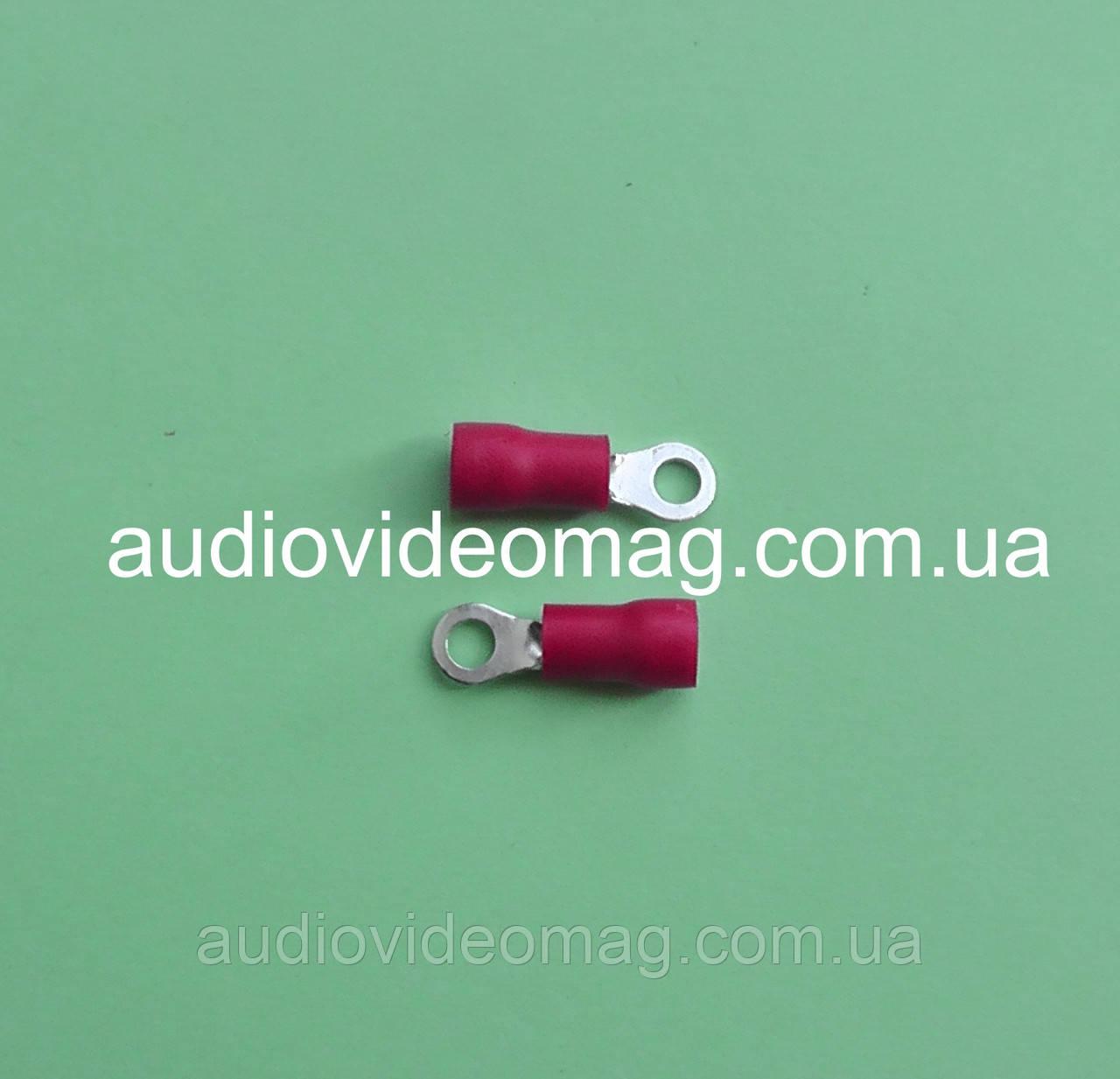 Клемма кольцевая под контакт 3 мм с изоляцией, упаковка 50 шт.