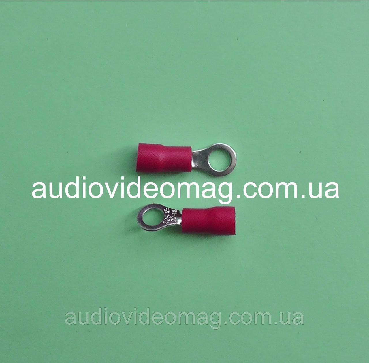 Клемма кольцевая под контакт 4 мм с изоляцией, упаковка 50 шт.