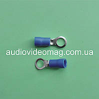 Клемма кольцевая под контакт 5 мм с изоляцией, упаковка 50 шт.
