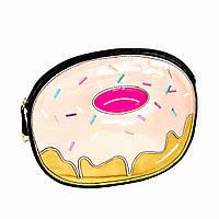 3D Клатч Розовый Пончик