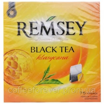 Чай черный классический REMSEY, 75 пак , фото 2