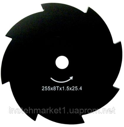 Нож для мотокосы X-Treme 255х25.4х1.6 мм 8-зубый, фото 2