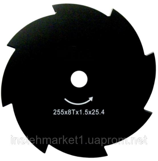 Нож для мотокосы X-Treme 255х25.4х1.6 мм 8-зубый в интернет-магазине