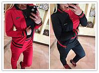 Женский весенний костюм тройка, черный и красный
