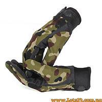 Тактические стрелковые перчатки 5.11 Камуфляж