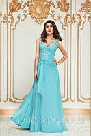 Вечернее платье бирюзовое, фото 1